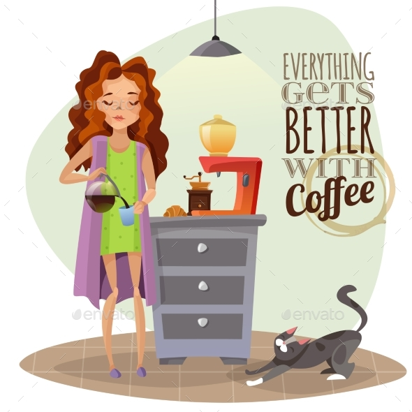 GraphicRiver Morning Awakening With Cup Of Coffee 20451328
