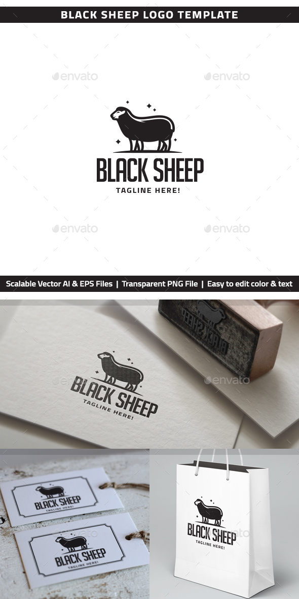 GraphicRiver Black Sheep Logo 20451333