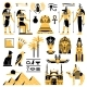 Egypt Symbols Decorative Icons Set