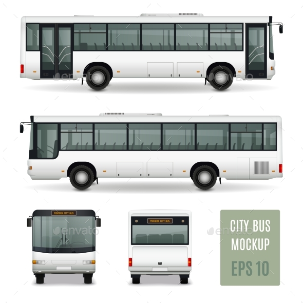 GraphicRiver City Bus Realistic Advertising Template 20451358