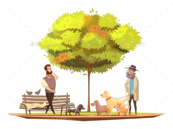 Dog Concept Illustration - Animals Characters