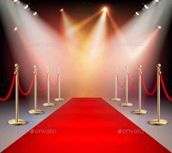 Red Carpet In Illumination Composition - People Characters