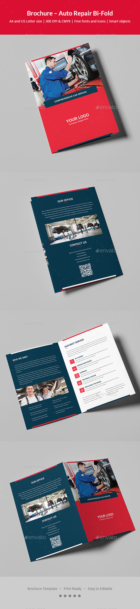 Brochure – Auto Repair Bi-Fold - Corporate Brochures