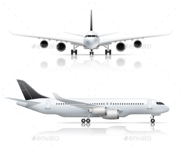 GraphicRiver Airliner Front Side Realistic View 20451497