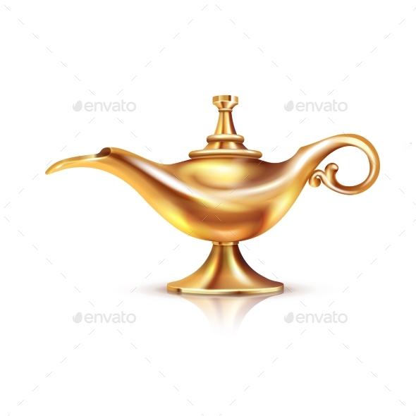 GraphicRiver Aladdin Lamp Isolated Composition 20451499