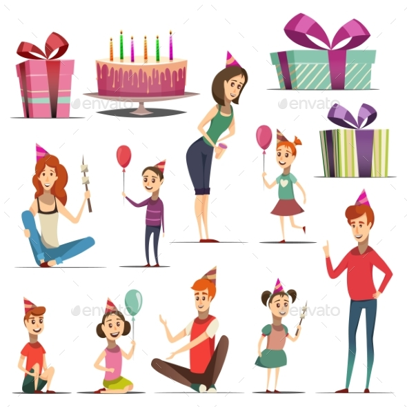 Kid Birthday Set - Seasons/Holidays Conceptual