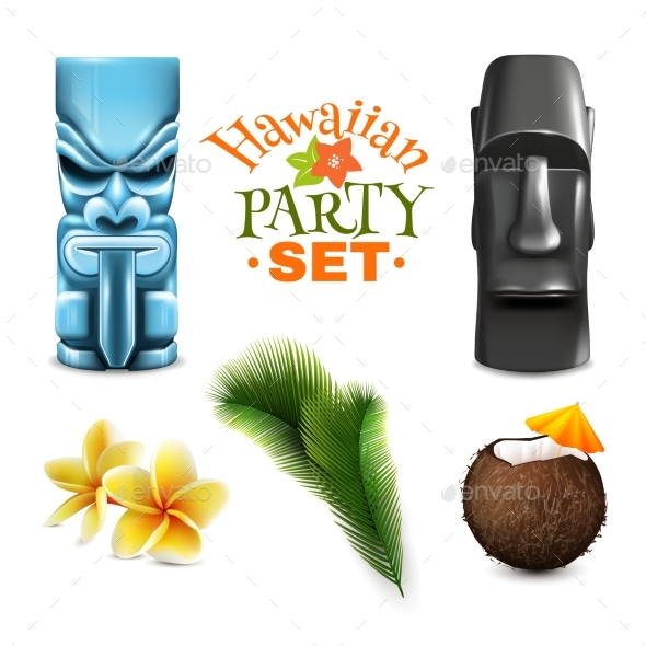 Hawaiian Party Elements Collection - Religion Conceptual