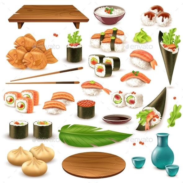 GraphicRiver Japanese Food Set 20451569