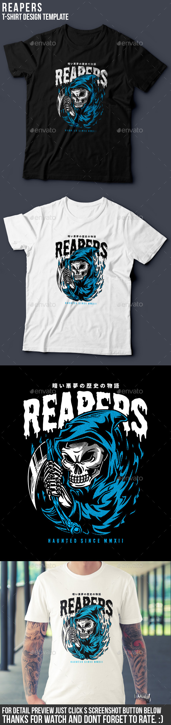 Reapers T-Shirt Design - Grunge Designs