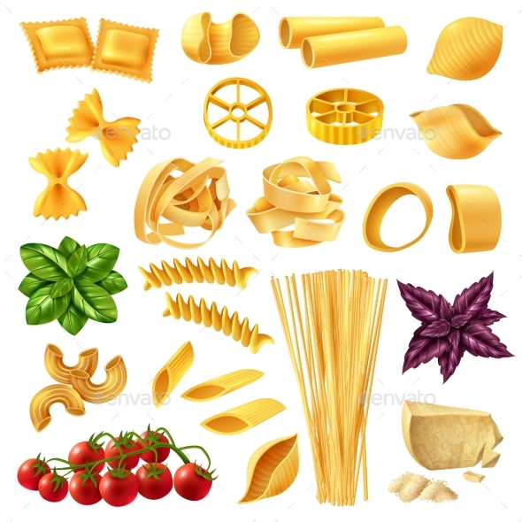 Pasta Realistic Set - Food Objects
