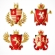 Heraldic Coat Of Arms Set