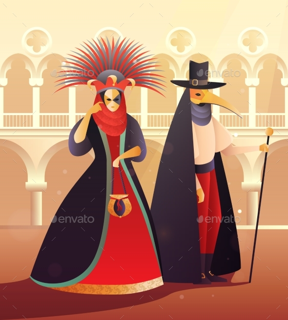 Carnival Party Illustration - Sports/Activity Conceptual