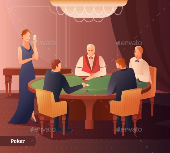 Casino And Poker Illustration - Sports/Activity Conceptual