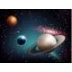 Planet Set Realistic Composition