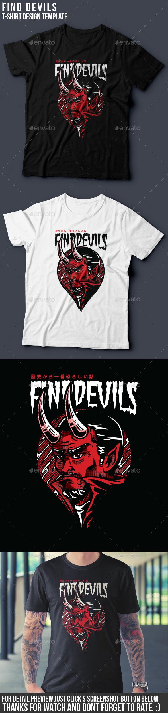 GraphicRiver Find Devils T-Shirt Design 20451670