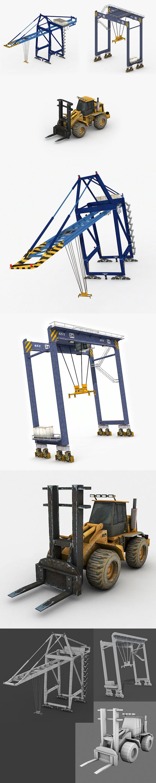 Port Cranes - 3DOcean Item for Sale