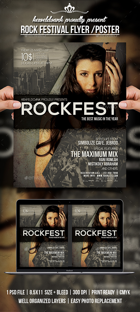 Rock Festival Flyer /Poster - Events Flyers