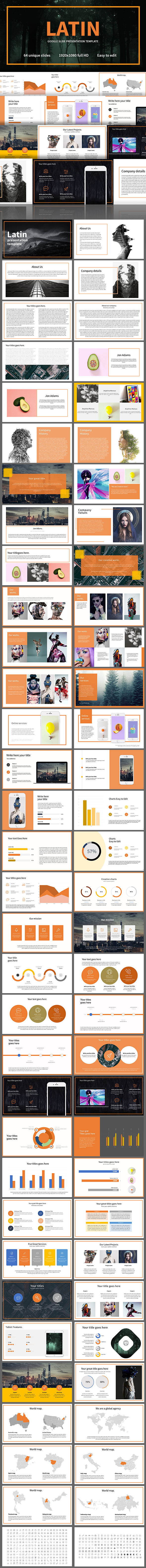 Latin Google Slides Template - Google Slides Presentation Templates