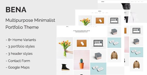 Bena - Multipurpose Minimalist Portfolio Theme
