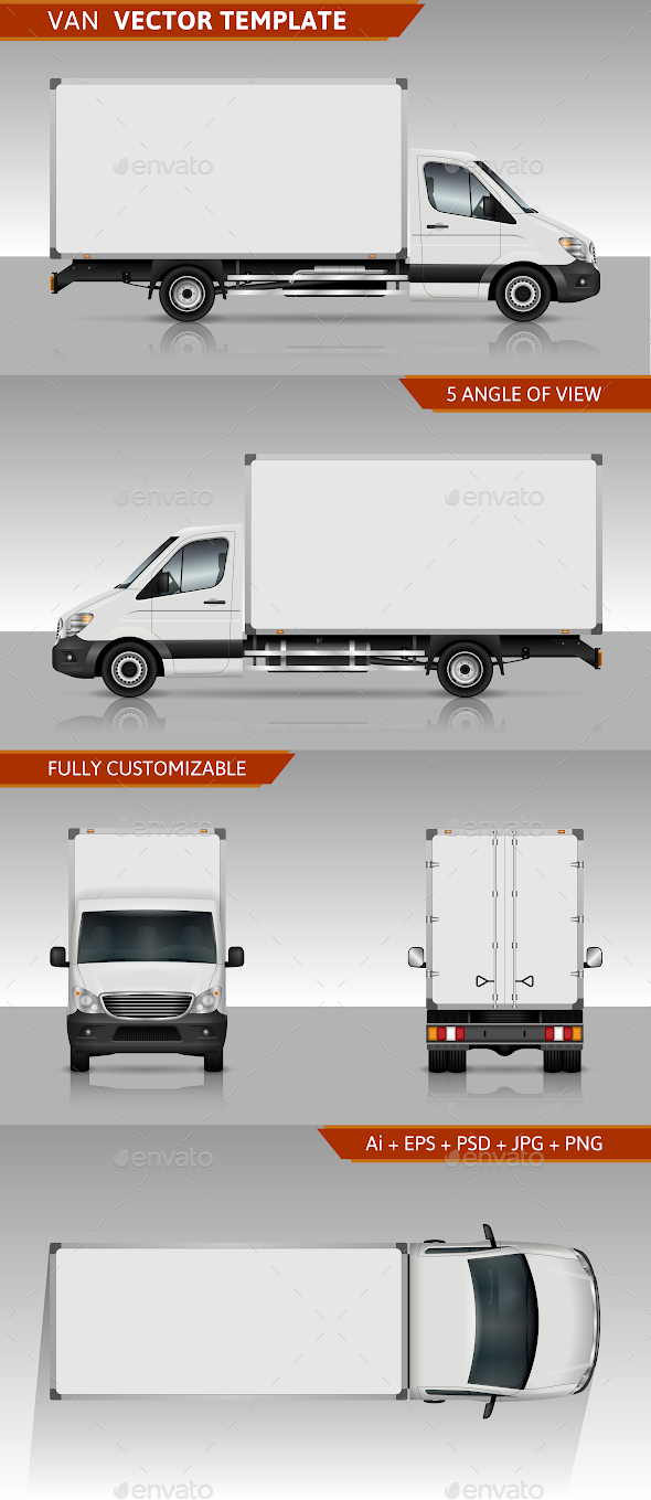 Van Vector Template - Man-made Objects Objects