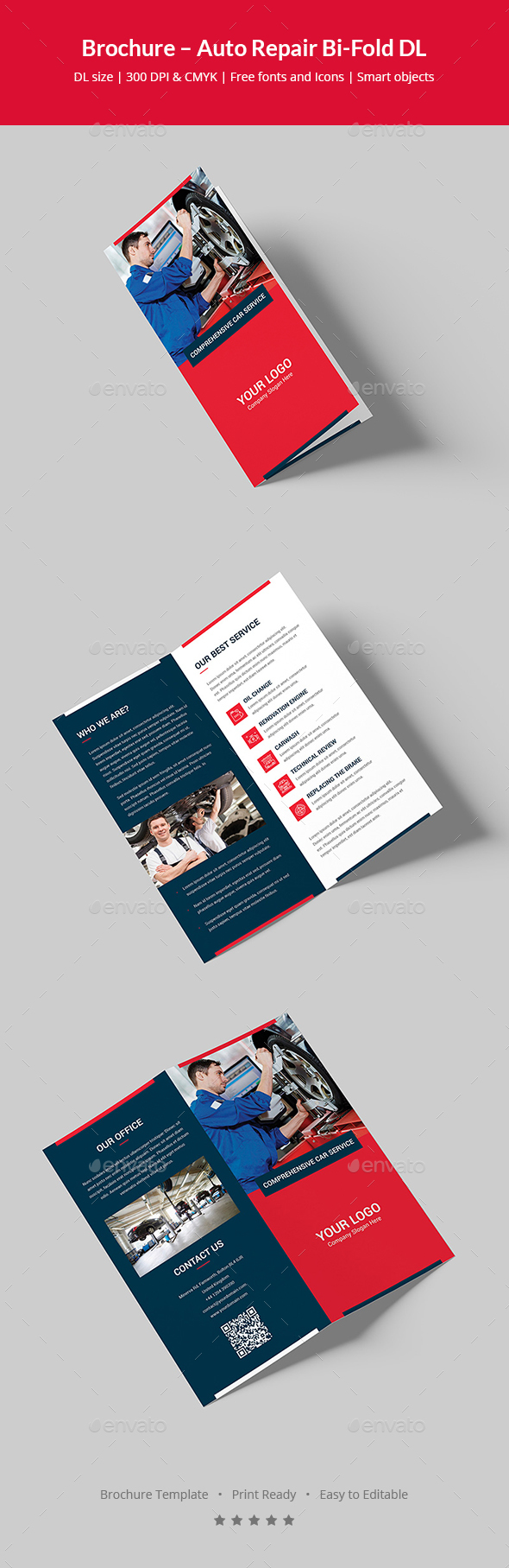 Brochure – Auto Repair Bi-Fold DL - Corporate Brochures