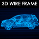 Car SUV 3D Wire Frame