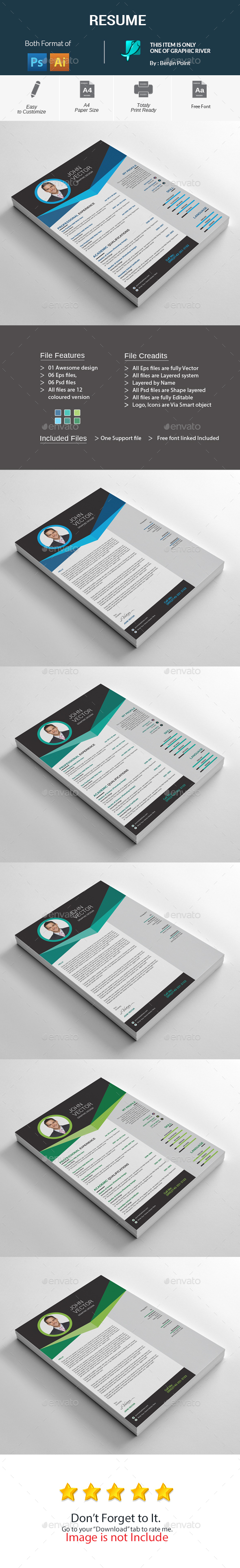 GraphicRiver Resume 20451876