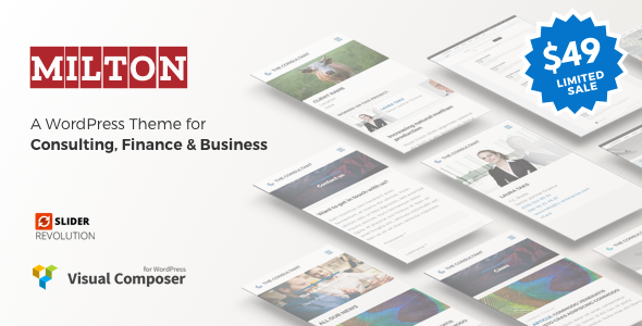 Milton - Consultancy WordPress Theme