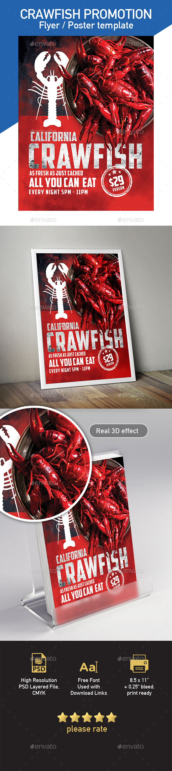 Crawfish Flyer/ Poster Template - Flyers Print Templates