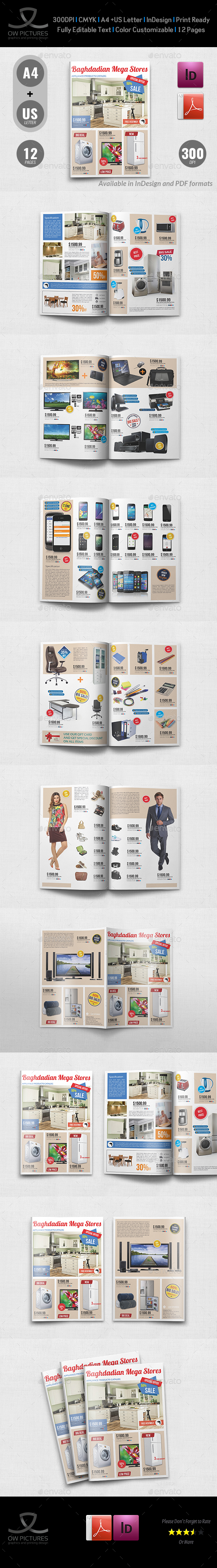 Products Catalog Brochure Template Vol.5 - Catalogs Brochures