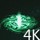 Green Galaxy in Space