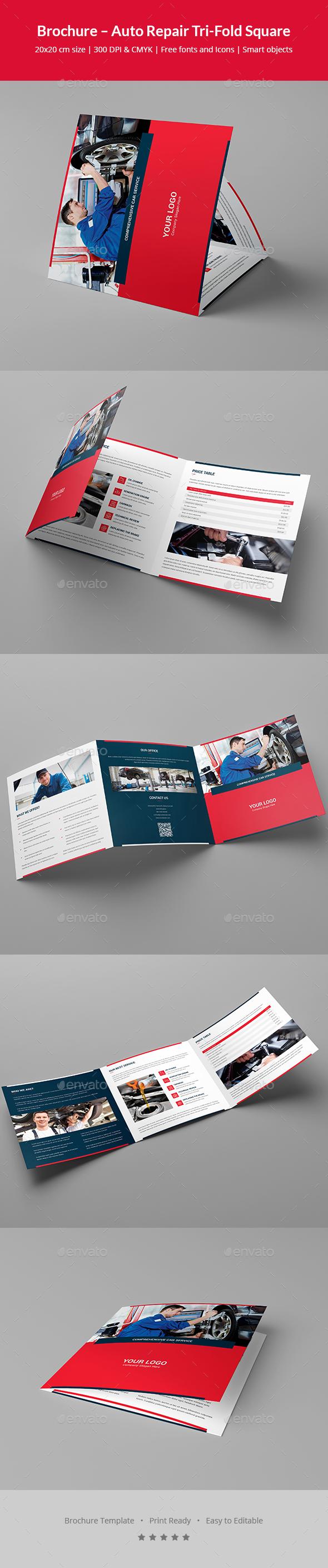 Brochure – Auto Repair Tri-Fold Square - Corporate Brochures
