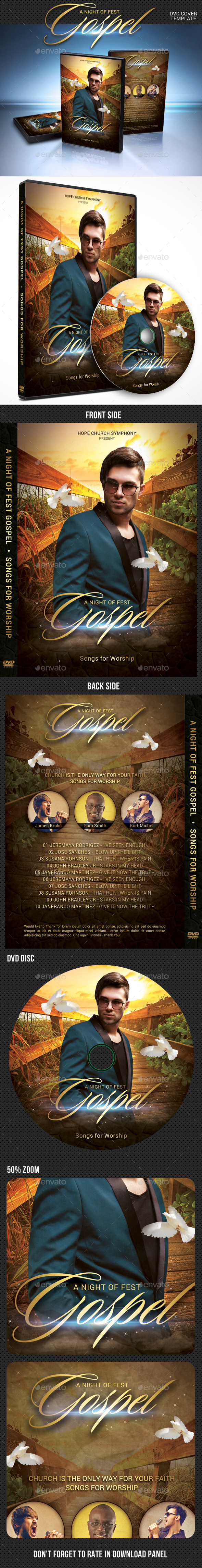 Gospel Fest DVD Cover Template - CD & DVD Artwork Print Templates