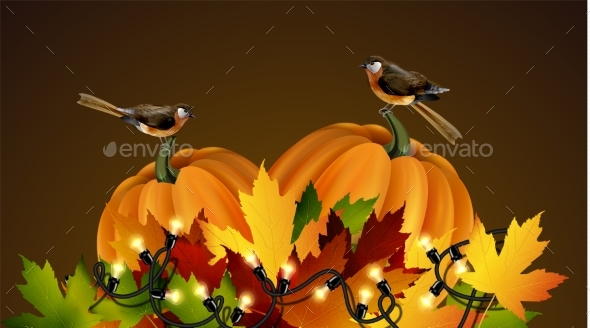 Thanksgiving Vector Autumn Composition - Flowers & Plants Nature
