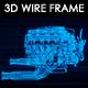 Car Engine 3D Wire Frame