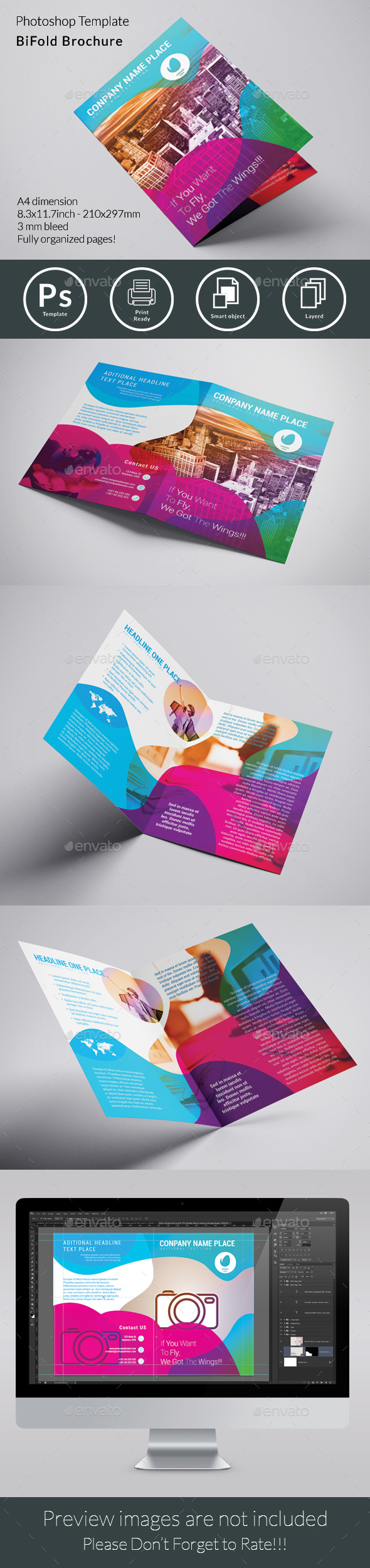 GraphicRiver Abstract Bifold Brochure 20452597