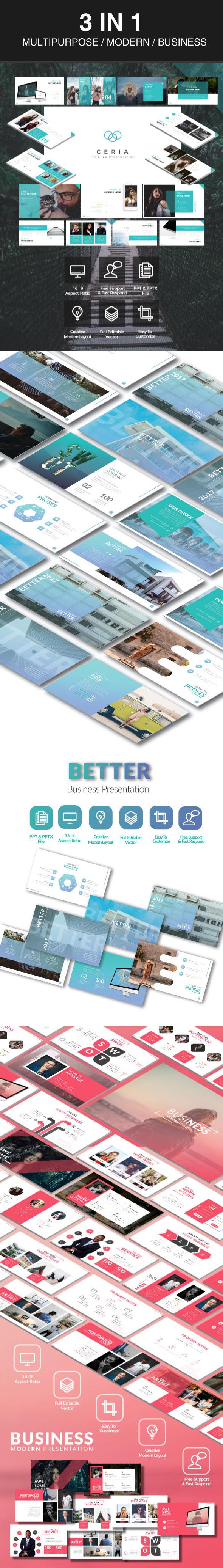 GraphicRiver Agustus Keynote Bundel 3 in 1 Multipurpose Template 20452621