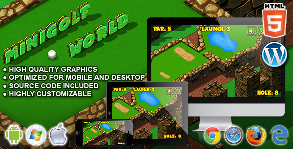 Mini Golf World - HTML5 Sport Game - CodeCanyon Item for Sale