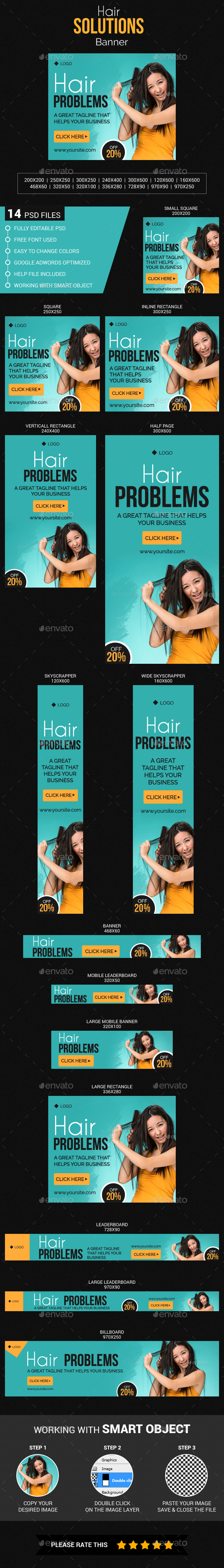 GraphicRiver Hair Solutions Banner 20452670