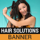 Hair Solutions Banner - GraphicRiver Item for Sale