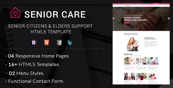 Senior Care - Senior Citizens & Elders Support HTML5 Template - Health & Beauty Retail