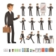 Vector Set of Businessman in Different Action