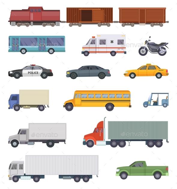 GraphicRiver Vector Illustration of Automobile Trucks 20452737