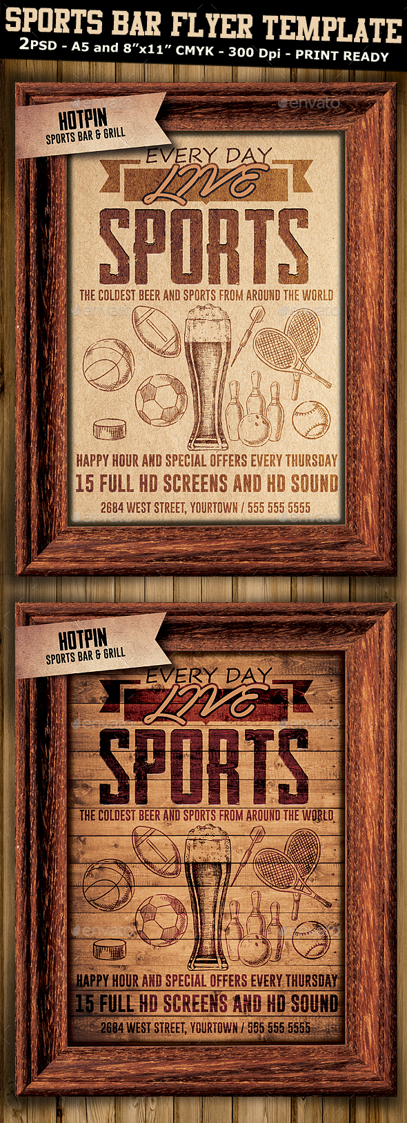 Sports Bar Flyer Template 3 - Sports Events