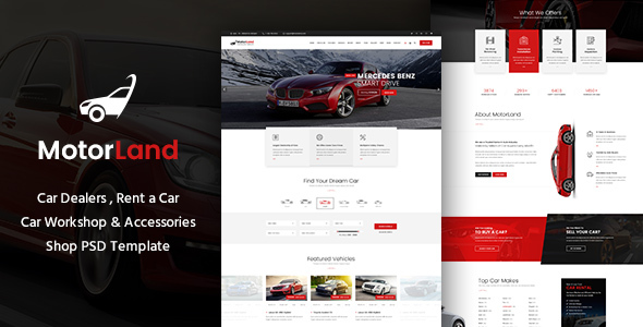 MOTORLAND - Car Dealer PSD Theme - Retail PSD Templates