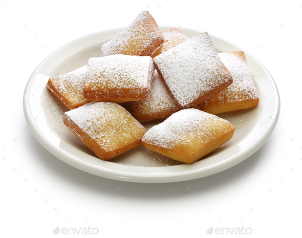 homemade new orleans beignet donuts - Stock Photo - Images