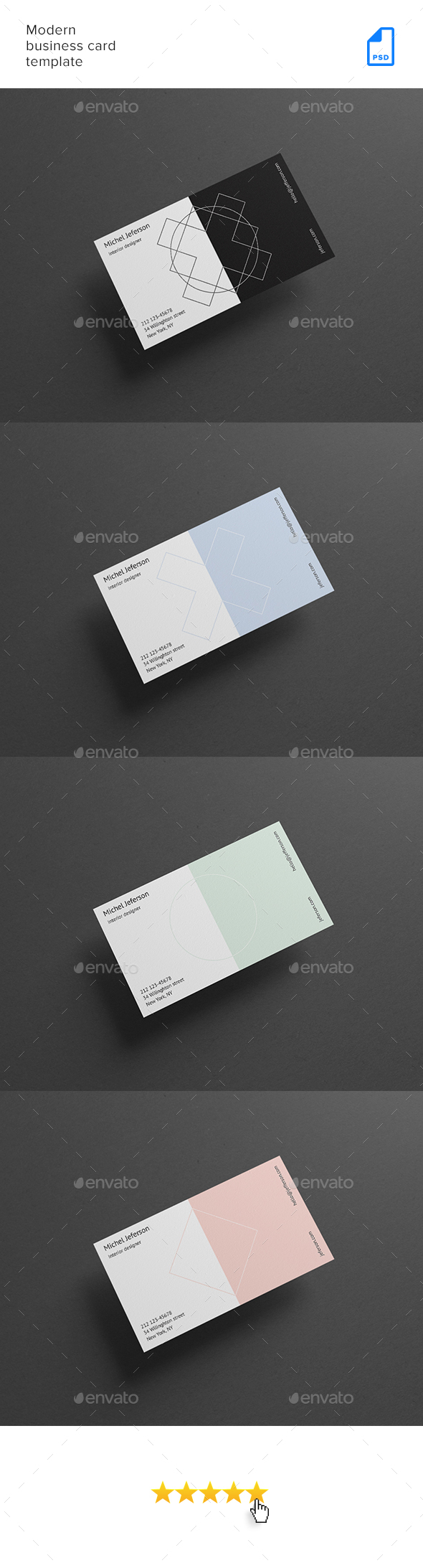 GraphicRiver Modern Business Card Template 20449029