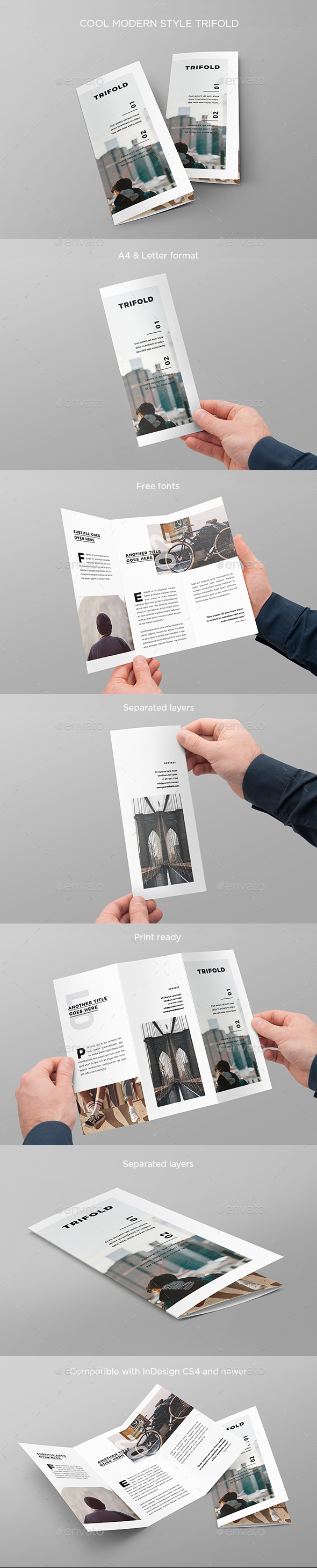 Cool Modern Style Trifold - Brochures Print Templates