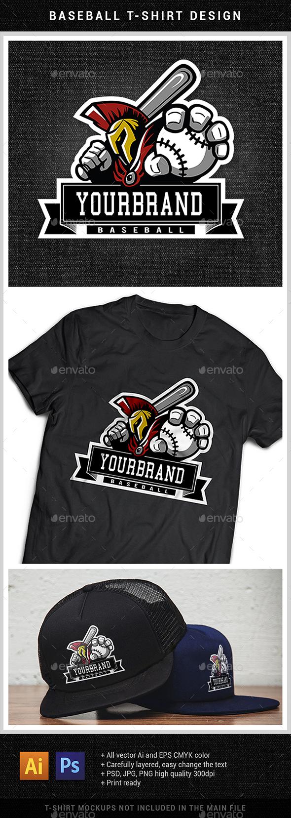 GraphicRiver Baseball T-Shirt Design 20446988