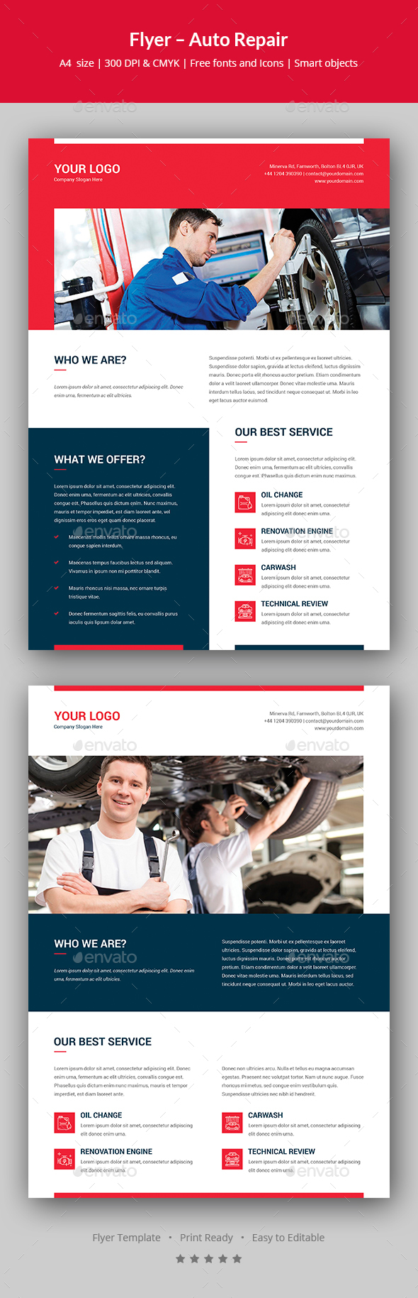 Flyer – Auto Repair - Corporate Flyers